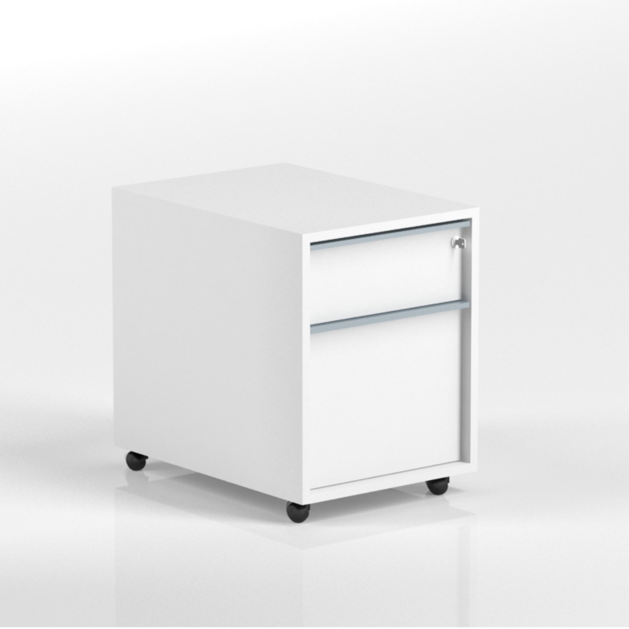 Rollcontainer FLEX T60 B43 H56 mit 1 x Schublade, 1 x ...