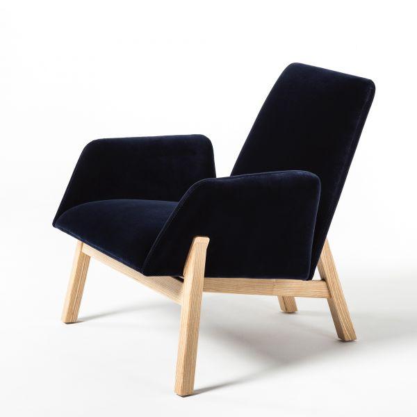 Noti Manta Sessel niedrig mit Holzgestell