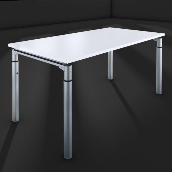 hund Möbelwerke - Schreibitsch Callisto Melamin mit Rundfuß Metall-HV von 650 bis 850 mm