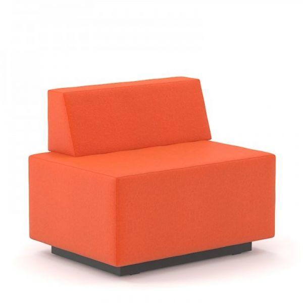 Gabler Büromöbel SEOUL Chill-Out 2-Sitzer mit Rückenlehne links verkürzt