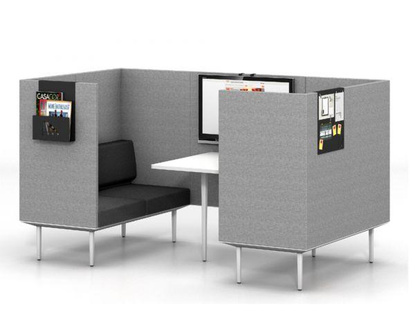Actiu LONGO POD LN4 Lounge für 4 Personen mit Besprechungstisch