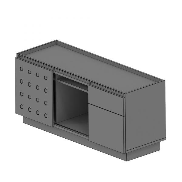 Balma Plus P4-305-M Sideboard mit 1 Schiebetür + 1 Fach + 1 Schublade+ 1 Hängeregister in 135x50x55