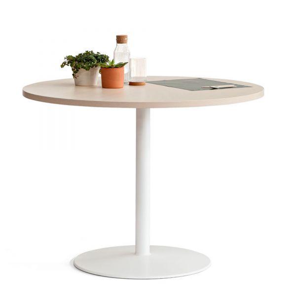 Actiu TABULA TAR10 Tisch mit Compact Laminat Tischplatte und Tellerfuß