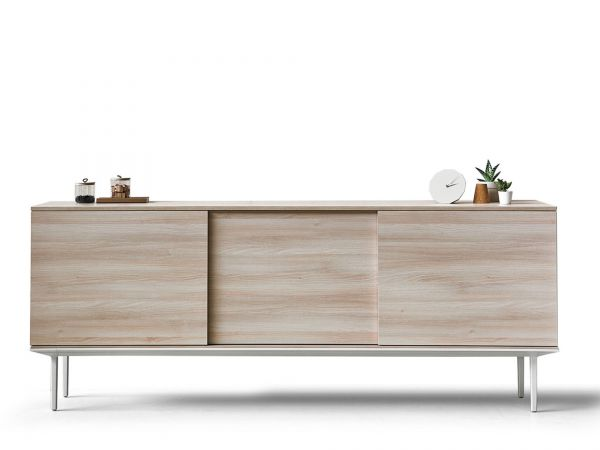 actiu longo lna22 sideboard wei mit 3 schiebet ren in melamin sideboards b roschr nke. Black Bedroom Furniture Sets. Home Design Ideas