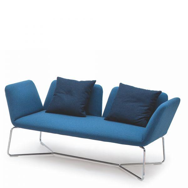 Noti Manta Loungesofa 2-Sitzer mit Metallgestell