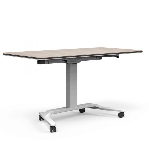 Actiu Talent 500 Schreibtisch Flip-Tisch, höhenverstellbar und rollbar