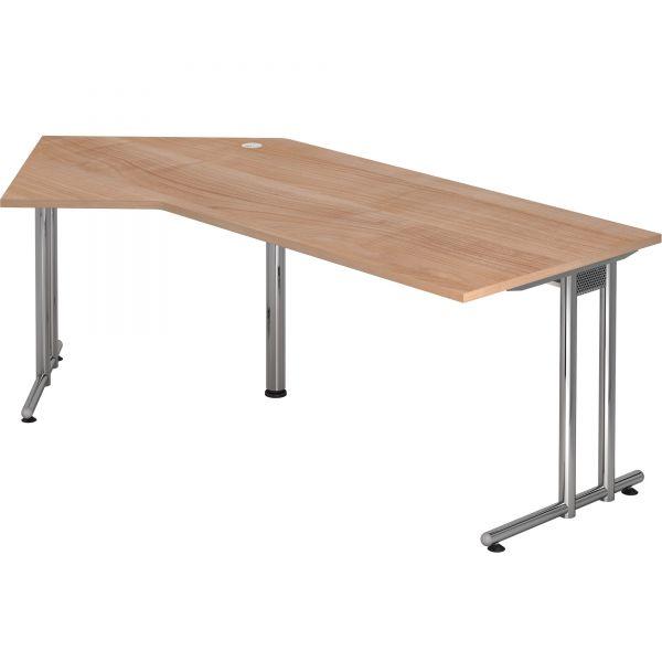 Schreibtisch P-Serie mit C-Fuß