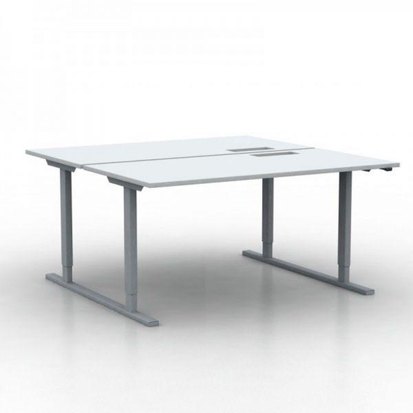 2er Bench-Schreibtisch Agile elektrisch höhenverstellbar