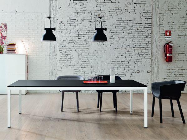 frezza LINK Besprechungstisch 240x120 cm mit Tischplatte in Melamin oder Glas