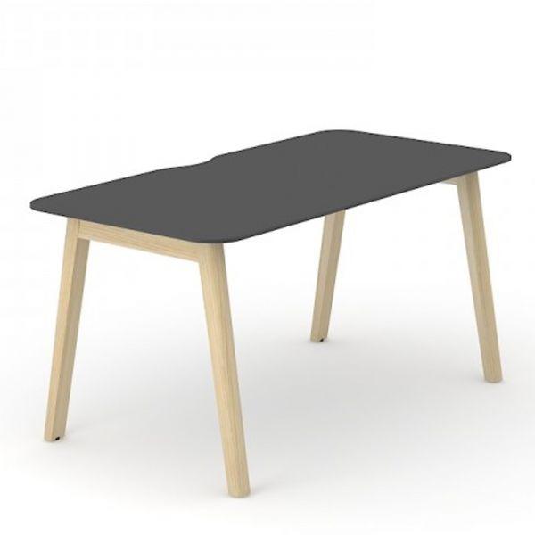 Schreibtisch Simple-Wood mit HPL Tischplatte und Eschegestell