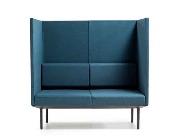 Actiu LONGO POD LN212 2-Sitzer Sofa mit hohem Rücken