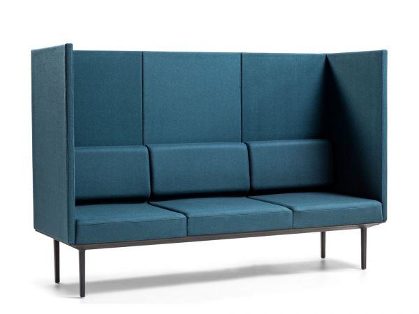 Actiu LONGO POD LN213 3-Sitzer Sofa mit hohem Rücken