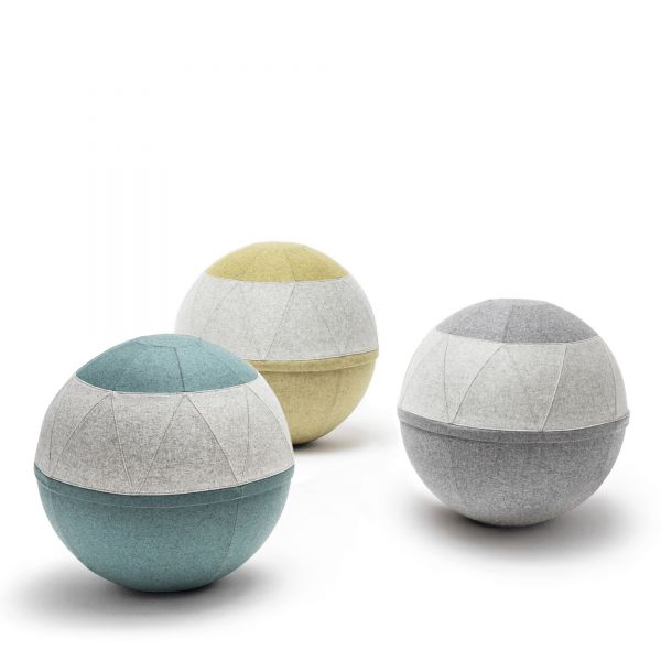 Noti ROLLO CLASSY - Sitzball in Wolle mit Muster