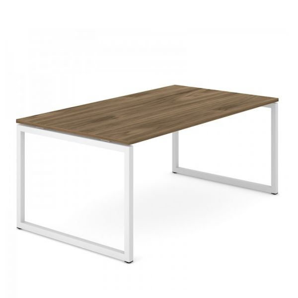 Schreibtisch FLEX PRO O in 180/200x100 cm mit O-Gestell