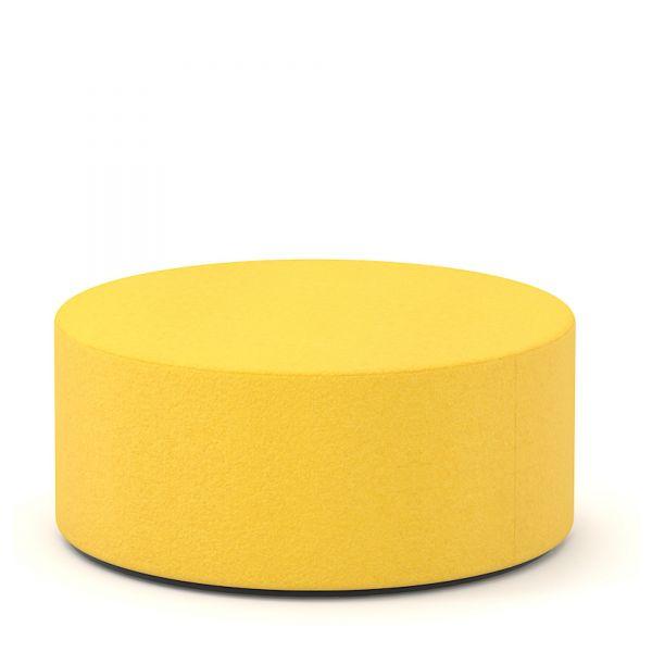 Sitzwürfel rund D80cm H35cm in Wolle Velito