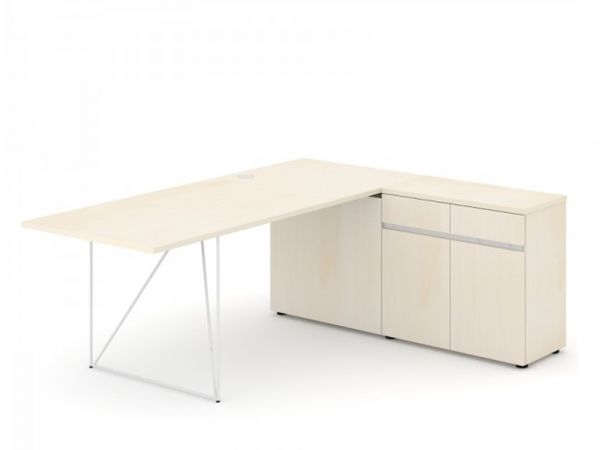 Schreibtisch Loft - Design Schreibtisch mit Sideboard