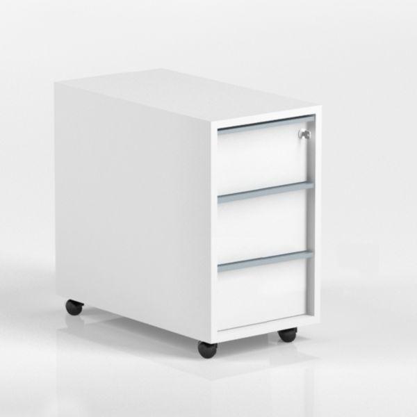 Rollcontainer FLEX T60 B30 H56 mit 3 Schubladen und Schloss
