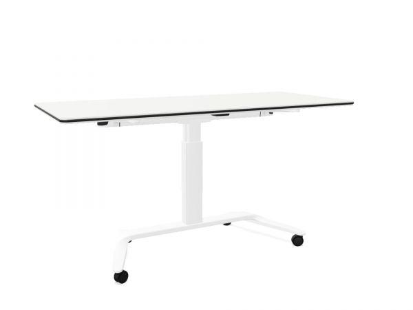 Actiu Talent 500 Schreibtisch klappbar, höhenverstellbar, rollbar mit Whiteboard in 160x69 cm