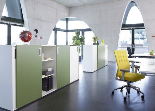 Aufbewahrung im Büro - Schrank- und Regalsysteme