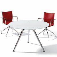 Actiu ARKITEK W70 Besprechungstisch rund mit Melamin Tischplatte