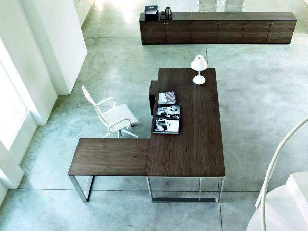 frezza Velvet Schreibtisch mit Tischplatte in Echtholz Furnier