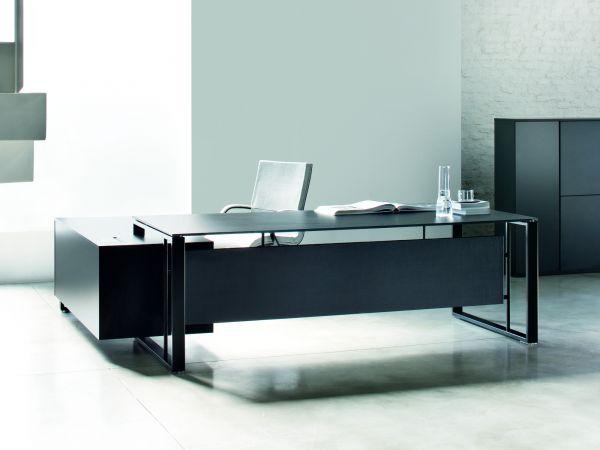 frezza Velvet Executive Schreibtisch mit Sideboard in Melamin