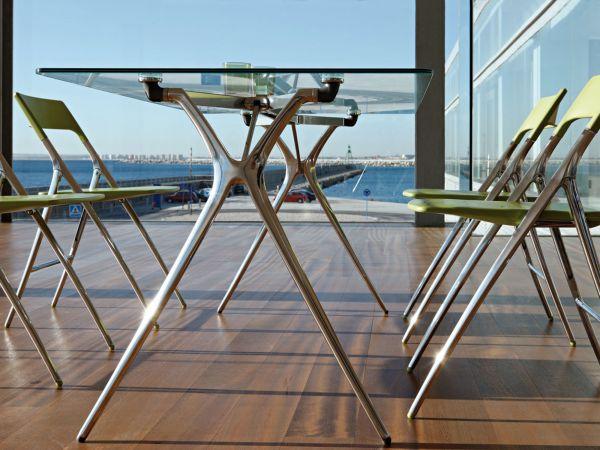Actiu PLEK Klapptisch ohne Rahmen und Tischplatte Glas