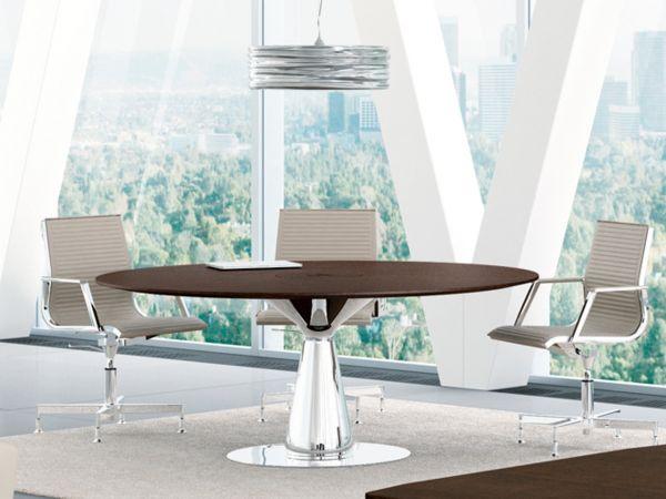 Bralco Metar Besprechungstisch mit Tischplatte furnier 160 x 160 cm rund