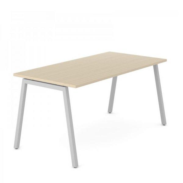 Schreibtisch FLEX A mit A-Beine Traversengestell