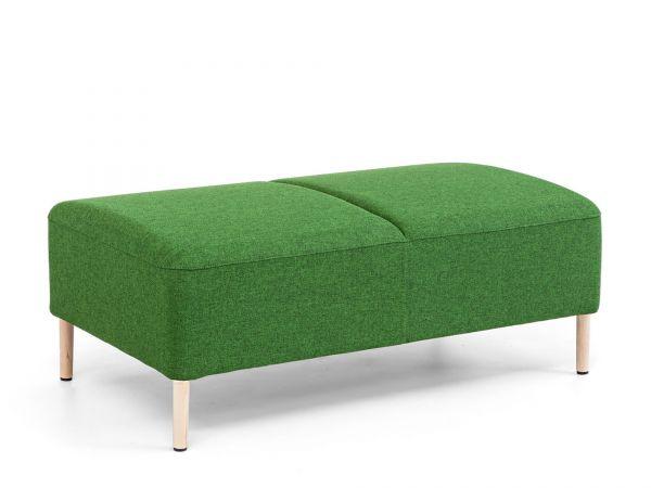 Actiu Bend 30 Sitzbank 2-Sitzer ohne Rücken und Holzfüße