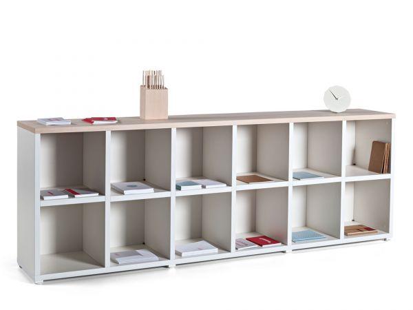 Actiu Cubic - NL120 Bücherregal ohne Türen