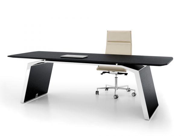 Bralco Metar Executive Schreibtisch 240x100 cm in Echtholz furniert