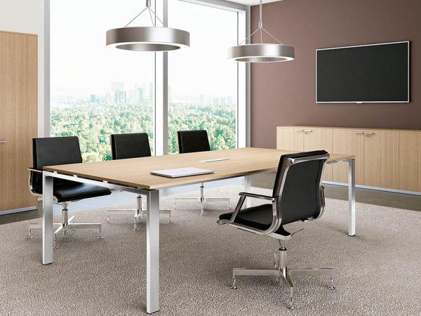 Bralco GLIDER Konferenztisch rechteckig mit 4-Fuß