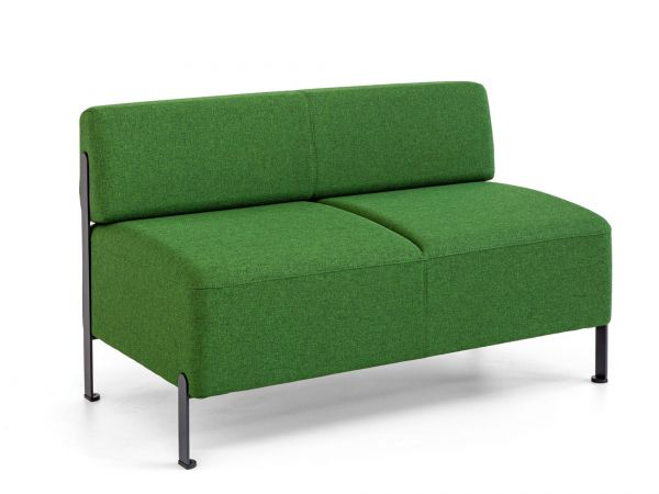 Actiu Bend 20 Sitzbank 2-Sitzer mit Rücken und Metallfuß
