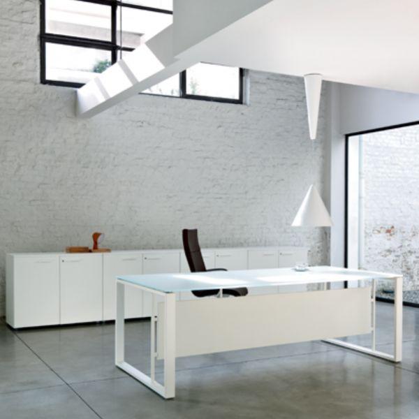 frezza Velvet Schreibtisch mit Tischplatte aus Glas