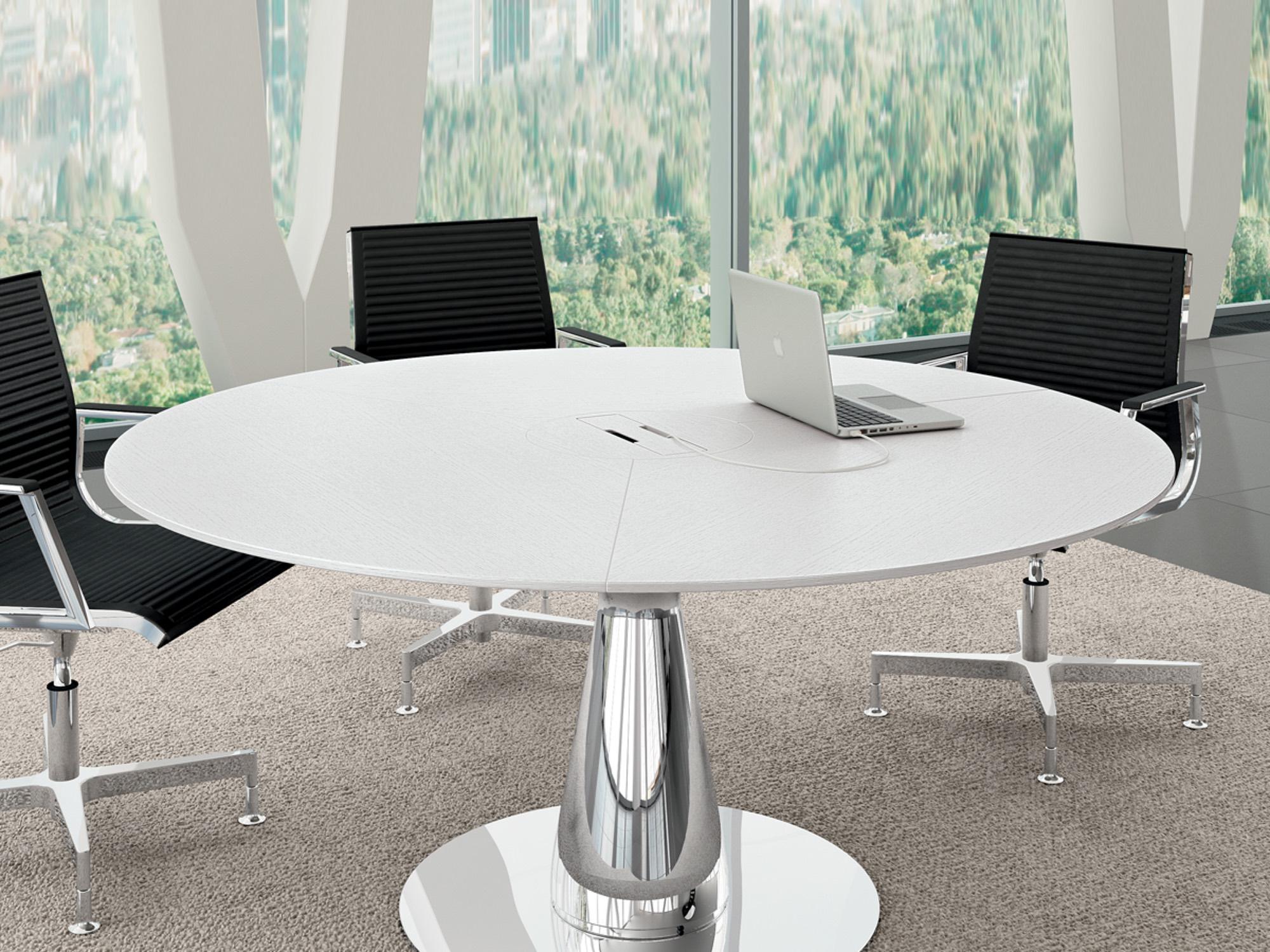Bralco Metar Besprechungstisch Mit Tischplatte Furnier 160 X 160