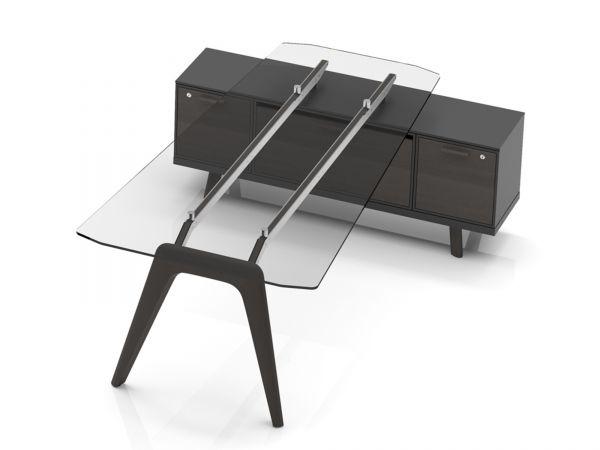 Bralco RAIL Meeting-Point mit Glastisch und Sideboard