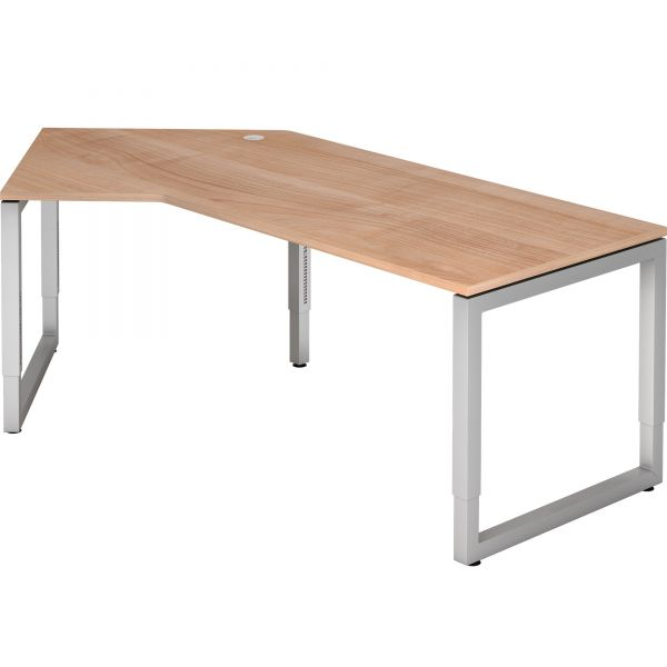 Schreibtisch T-Serie mit Rahmengestell höhenverstellbar 68 - 76 cm
