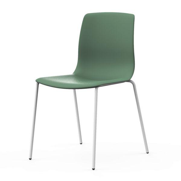 Actiu Noom 50 Stuhl mit Sitz Kunststoff und 4-Fußgestell