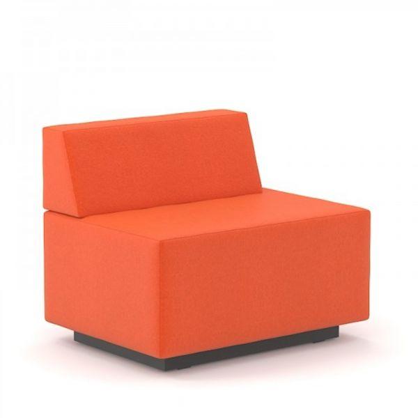 Gabler Büromöbel SEOUL Chill-Out 2-Sitzer mit Rückenlehne rechts verkürzt