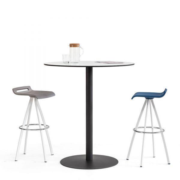 Actiu TABULA TAR10 Stehtisch mit Compact Laminat Tischplatte und Tellerfuß