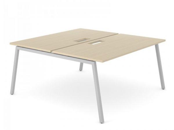 2er Team- Schreibtisch FLEX A mit Gestell in A-Form