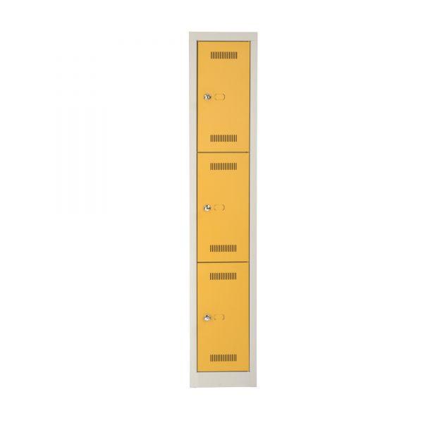 Bisley Mono Bloc Gaderobenschrank mit 3 Türen jeweils mit Schloss