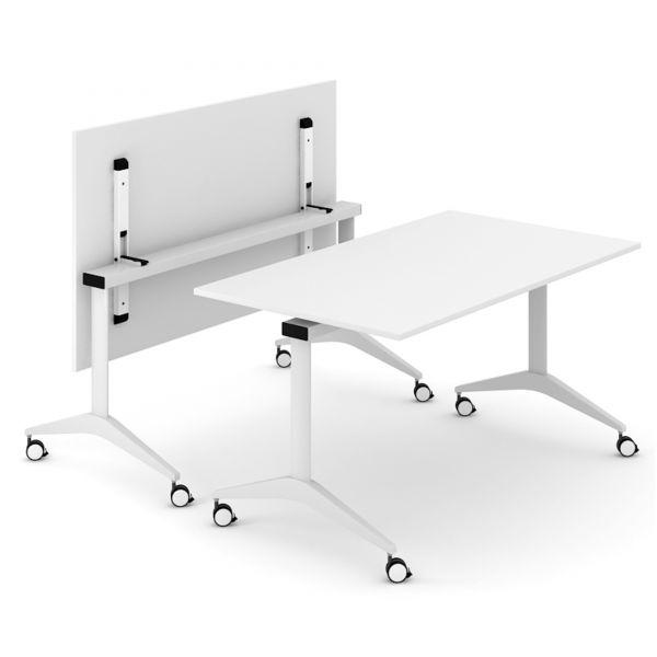flip klapptisch 140 160x80 cm mit rollen klappbar und beweglich klapptische meeting. Black Bedroom Furniture Sets. Home Design Ideas