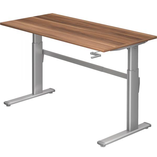 Schreibtisch ZM - manuell höhenverstellbar 72-119 cm rechteckig