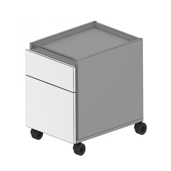 Balma Plus K2-42-M Rollcontainer mit 1 x Schublade und 1 x Hängeregister
