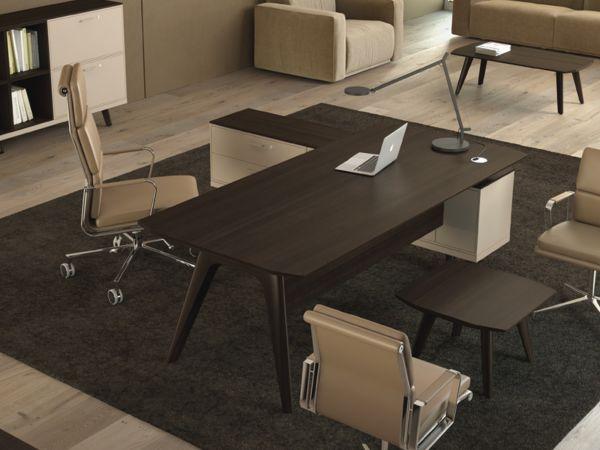 Bralco RAIL Executive Schreibtisch mit Sideboard in Eiche furniert