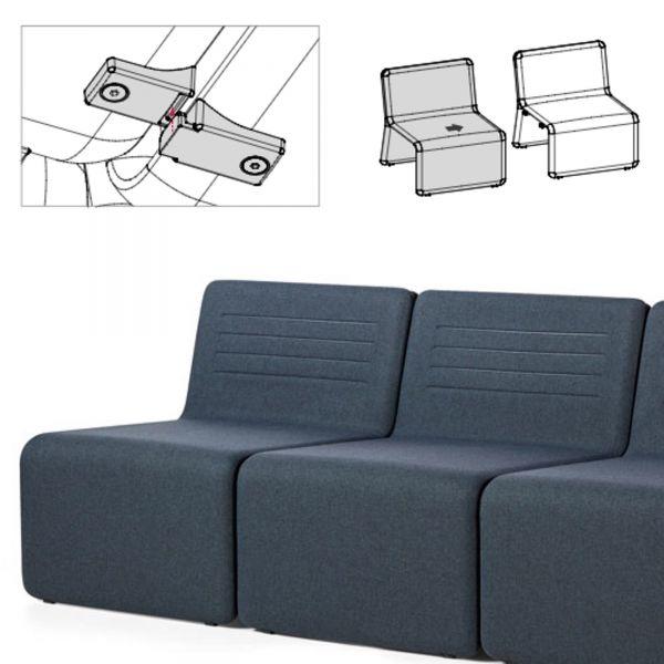 Actiu SHEY Reihenverbinder zum Verbinden zwei Sitzelementen