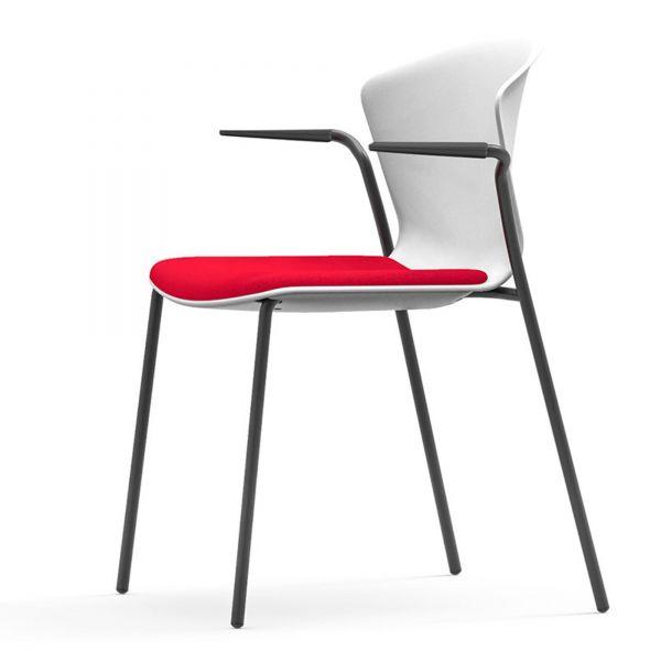 actiu whass besucherstuhl mit armlehne und 4 fuss gestell stapelbar stapelst hle meeting. Black Bedroom Furniture Sets. Home Design Ideas