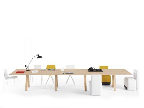 Viccarbe TESTLE Konferenztisch 360/480 cm in Höhe 74 cm ...